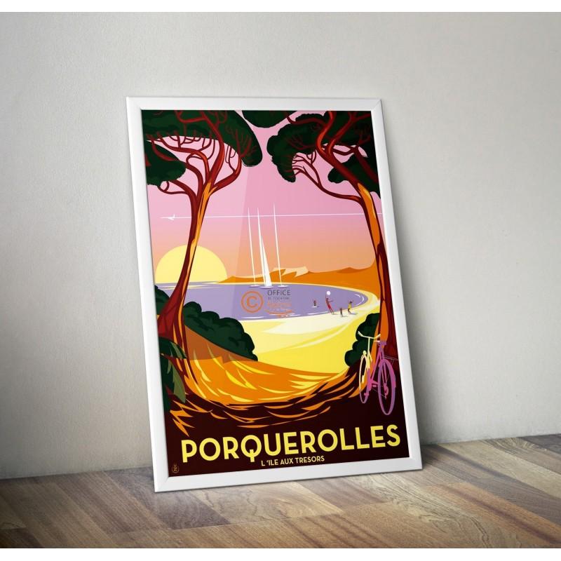 Affiches Collector Hyeres Porquerolles Par Monsieur Z
