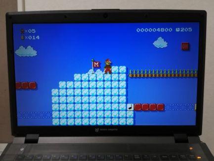 ノートPCに表示したスーパーマリオメーカー2の画面 その4