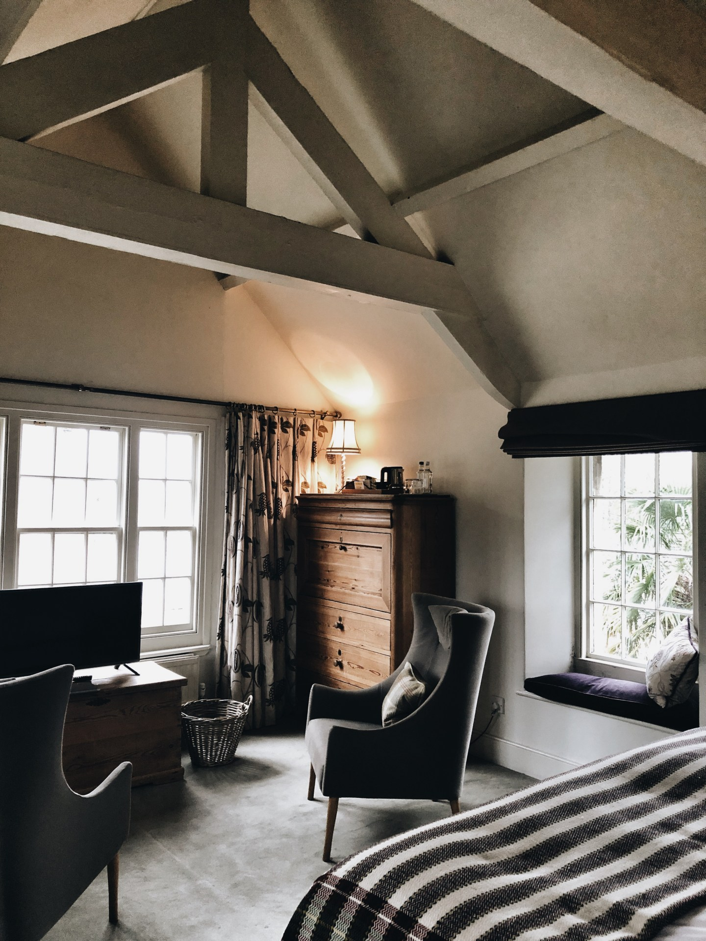 cosy hygge family travel hotel room