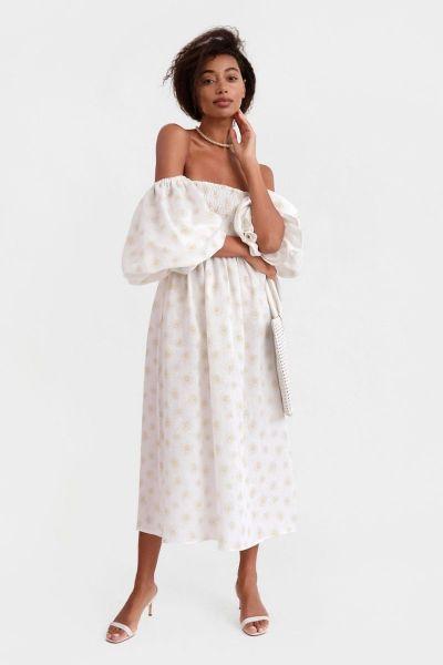Sleeper Atlanta Dress in Daisies Print