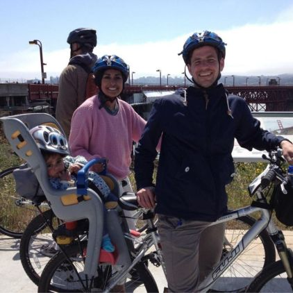 Us on bikes on honeymoon in San Francisco