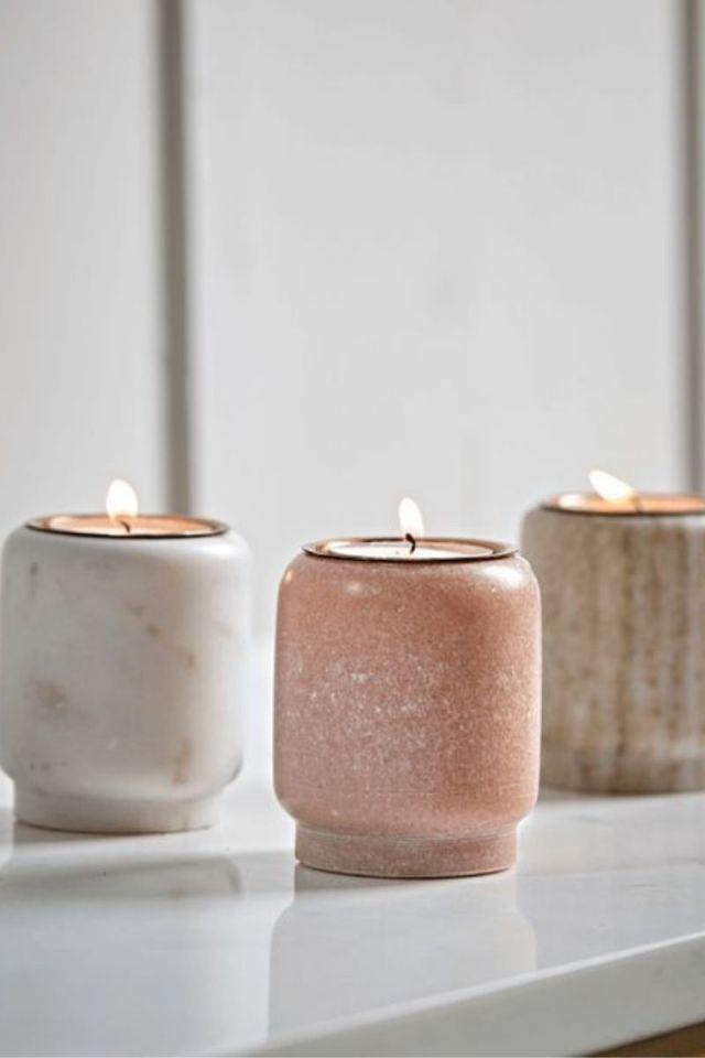 Earthy tone candle holders
