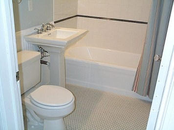 Bathroom with original tile