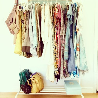 I have a lot of closets but I like having a few pretties out
