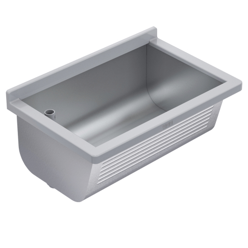 utility sink bs311 made of stainless steel for wall mounting by franke