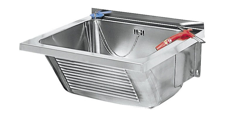 utility sink ltj450 made of stainless steel for wall mounting by franke