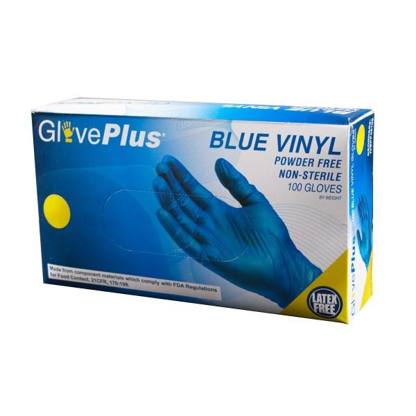 Blue Vinyl Gloves