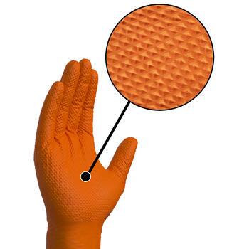 Gloveworks Orange HD Nitrile Gloves