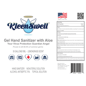 KleenSwell™ Gel Hand Sanitizer, 50-Gallon Drum, 70% alcohol
