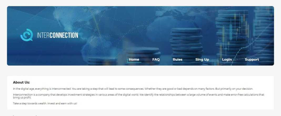 Interconnection Hyip Review: Get Earn Up to 1% Duration 30 days