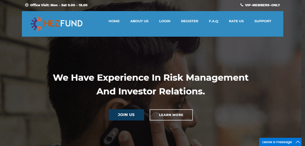Hezfund.com Hyip Review : Highly Experienced Management Team