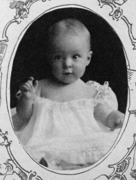 Baby Elizabeth Hamlin, about 1 year old