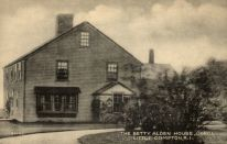 "An old postcard of the ""Betty Alden House"" in Little Compton, Rhode island"