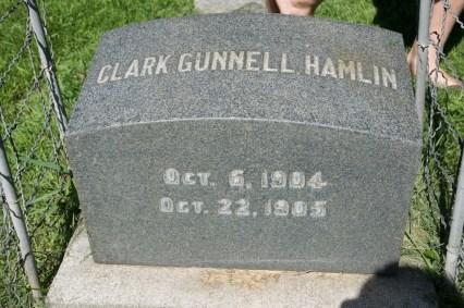 Clark Gunnell Hamlin (1904-1905), my grand uncle