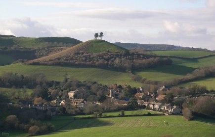 Colmer's Hill, a landmark above the village of Symondsbury, Dorset
