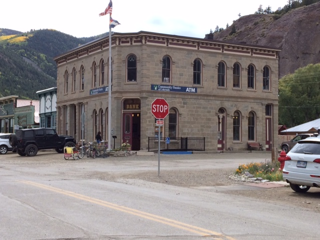 Community Banks of Colorado. Lake City, Colorado branch (photo credit: Matt Hylbom, 12 Sep 2016)