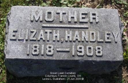 Elizabeth Wallace Handley marker