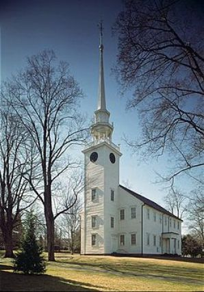 First Church of Christ (Congregational), in Farmington, Connecticut was founded in 1652. The present church (the third) originally known as the Meeting House, was built in 1771. The slender steeple on top of the bell tower can be seen for miles. It was a hub of the Underground Railroad, and housed the slaves of the Amistad during the first civil rights case in the United States. The Amistad case was important for the abolitionist cause and significant in the history of slavery in the United States.