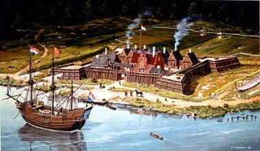 """Fort Orange, 1635"" © 1986 L.F. Tantillo (artist)"