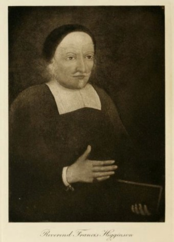 Francis Higginson (1588-1630) – from a daguerreotype attributed to Southworth & Hawes, circa 1854-1860, depicting a painted portrait (Massachusetts Historical Society)