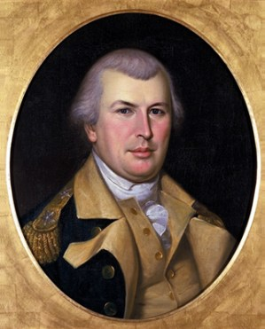 """General Nathanael Greene, """"The Fighting Quaker"""", portrait by Charles Wilson Peale (1783)"""