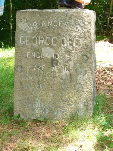 George Geer grave marker, Ledyard, New London, Connecticut