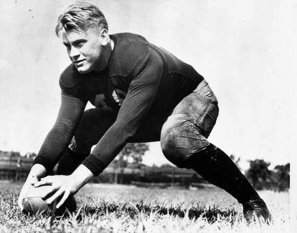 Ford as a University of Michigan football player (about 1933)