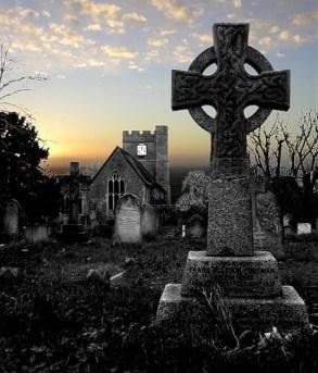 Headcorn Church at dusk