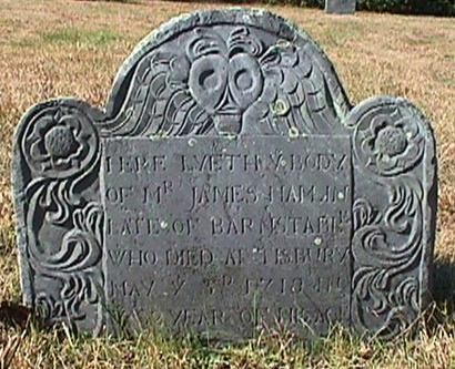 James Hamlin, 1636-1718; West Tisbury Village Cemetery, Dukes County, Massachusetts