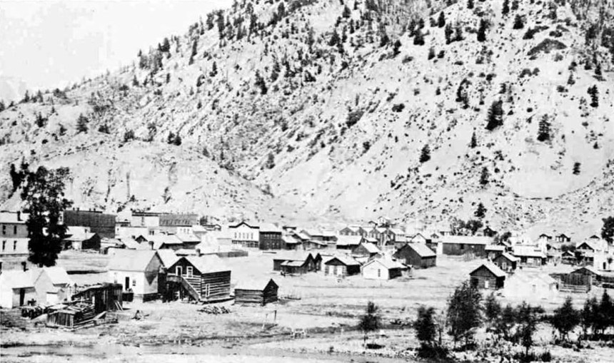Crofutt's Gripsack Guide 1884 Lake City, Colorado, about 1880 - view of town (from Crofutt's Gripsack Guide, 1884)