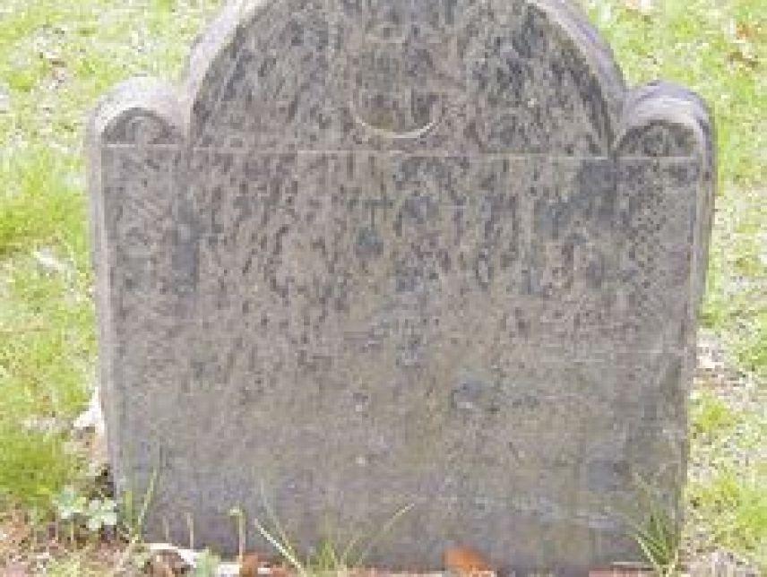 Lydia (Olney) Williams (1644-1724) - grave marker; photo credit: williamknight57)