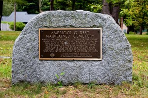 Myles Standish Burial Ground, the final resting place of John and Priscilla Alden, Duxbury, Massachusetts (photo credit: ronaldc)