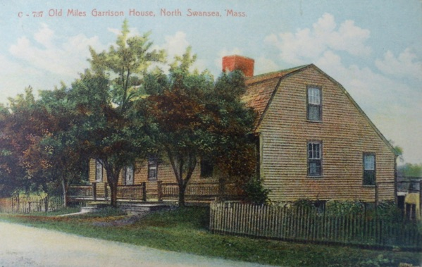 Old Myles Garrison House Swansea (postcard image)