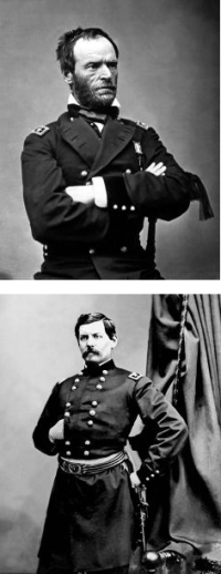 Union Generals: Sherman and McClellan
