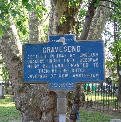 Of 17th century Brooklyn's original six towns, five (anglicized as Brooklyn, Bushwick, Flatbush, Flatlands and New Utrecht), were settled by Dutch men. And then there's Gravesend – founded in the 1640s by Lady Deborah Moody.
