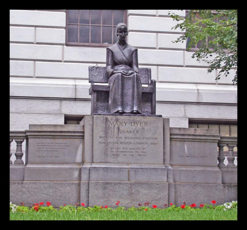Mary Dyer statue (Massachusetts State House, Boston)