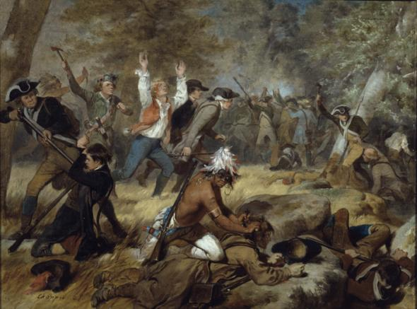 Depiction of the Battle of Wyoming by Alonzo Chappel, 1858