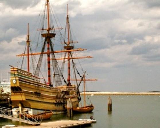 Mayflower II in Plymouth Harbor