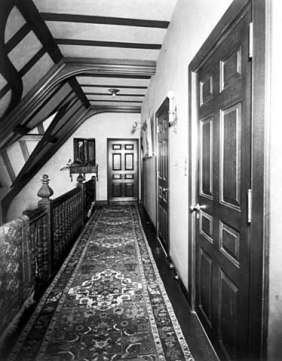 Upper hall looking west