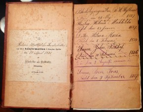 Family Bible of Hilma Mathilda Karlsdotter, on the occasion of her confirmation, 23 Apr 1871