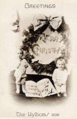 Hylbom Christmas card 1936