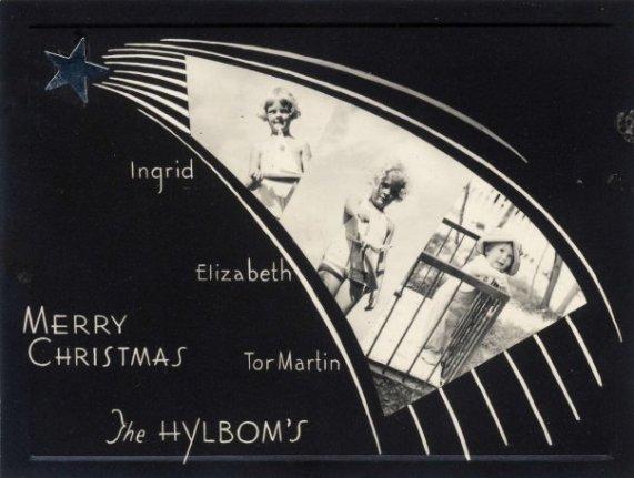 Hylbom Christmas card 1940