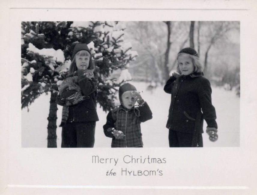Hylbom Christmas card 1943