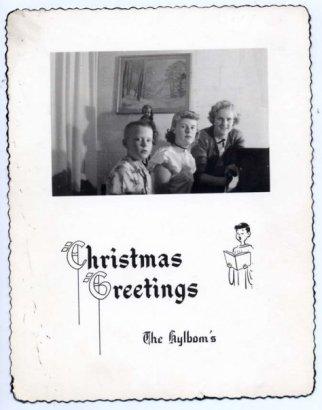 Hylbom Christmas card 1949