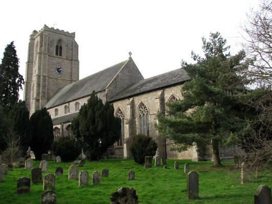 St. Andrew's Church, Hingham, England, the church of Puritan worshippers who left to found Hingham, Massachusetts