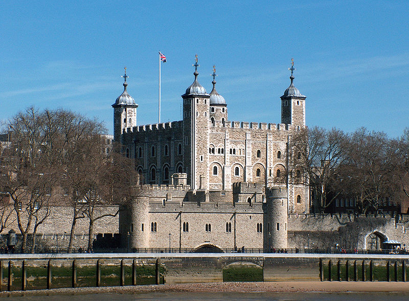 "The Tower of London, seen from the River Thames, with a view of the water-gate called ""Traitors' Gate"" (2006)"