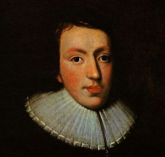 Portrait of John Milton (1608-74) in the National Portrait Gallery (circa 1629 by an unknown artist (detail)
