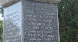Marshfield (Massachusetts) Founders Monument (detail)