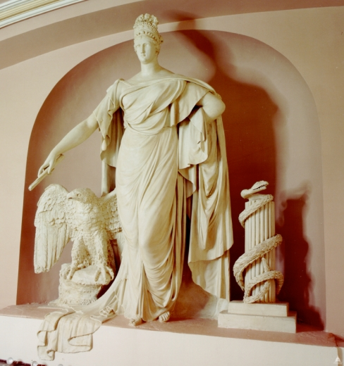 """Liberty and the Eagle"" by Enrico Causici - Placed between 1817-1819, the piece originally stood above the Speaker's desk of the Old House of Representatives."