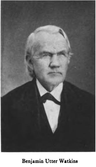 Rev. Benjamin Utter Watkins (1811-1890)